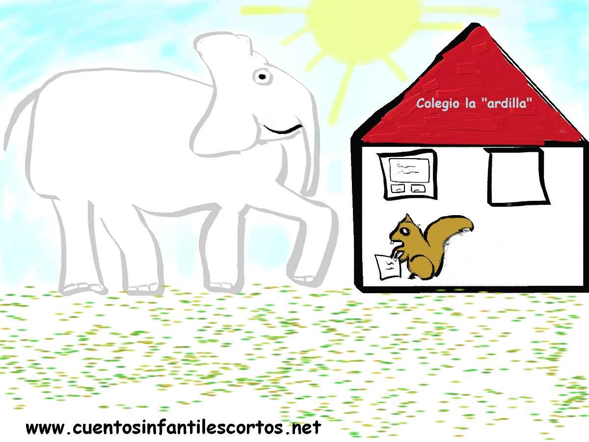 Cuento del elefante y la ardilla