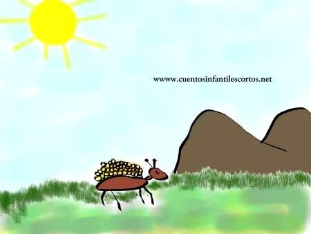 Cuento la hormiga y el grano