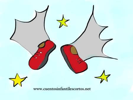 cuentos cortos-zapatillas voladoras