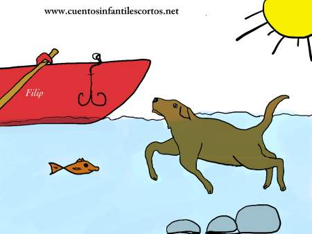 Cuentos cortos - Pluto el perro nadador