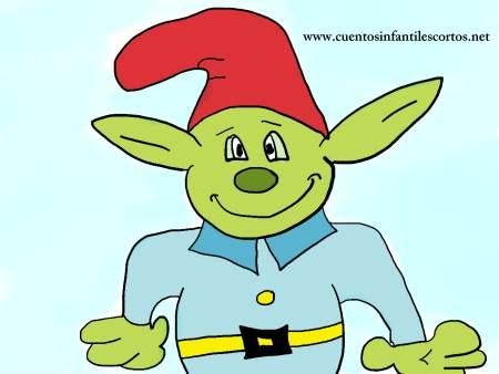 Cuentos infantiles - El duende verde de la casa
