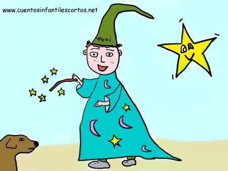 Cuentos infantiles cortos - Popi el niño mago