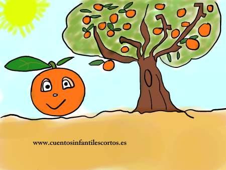 Dibujos para colorear - naranjito y el naranjo de valencia