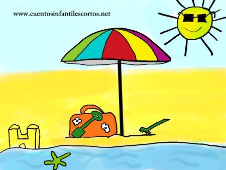 Cuentos infantiles - La sombrilla de la playa