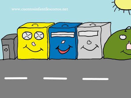 Cuentos infantiles - Los cubetos magicos y el reciclaje