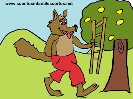 Cuentos infantiles - El lobo y la escalera
