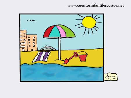 cuentos infantiles - el cuadro de la playa