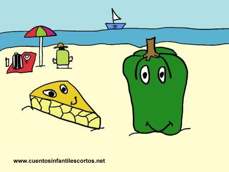 Cuentos cortos - El domingo de la tortilla en la playa