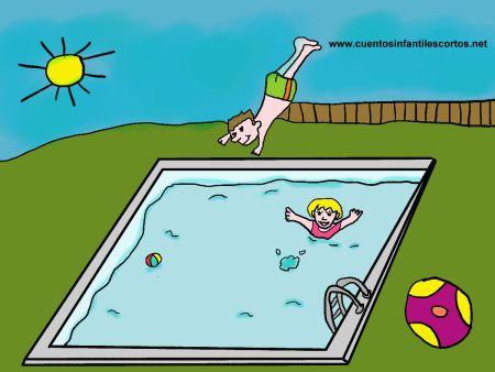 Cuentos-cortos-Los-ninos-en-la-piscina1