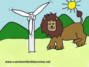Cuentos infantiles - El leon y el viento