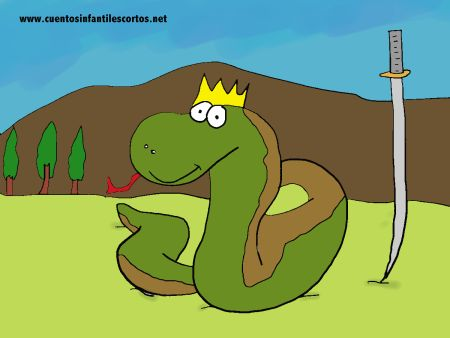 Cuentos infantiles - La serpiente y la espada