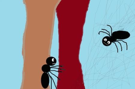cuentos-infantiles-cortos-la-hormiga-y-la-araña