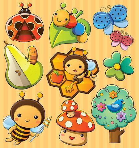 Insectos-animados-vectorizados